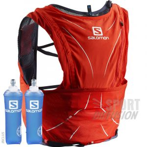 Salomon Sac d'hydratation Adv Skin 12 - XS/S Red/Graphite