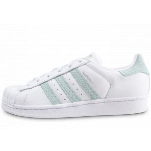 best sneakers 9bd96 9c7b7 Adidas Superstar Blanche Et Verte Femme 37 Baskets