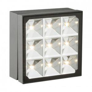 Globo Lampe de terrasse à LED pour spot mural extérieur Lampe de parc en verre ALU réglable 34169-1
