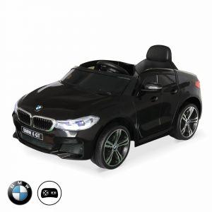 Alice's Garden BMW Série 6 GT Gran Turismo Noire, Voiture électrique pour Enfants 12V 4 Ah, 1 Place, avec autoradio et télécommande