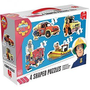 Jumbo 4 puzzles de forme Sam le Pompier