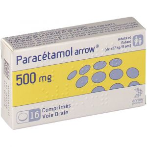 Arrow Paracétamol 500 mg - 16 comprimés
