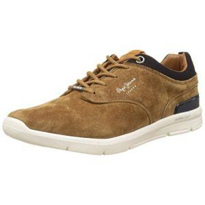 Pepe Jeans London Jayden Suede, Sneakers Basses Homme, Marron (Tobacco), 45 EU