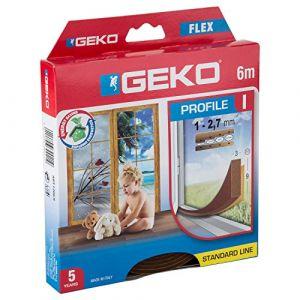 Geko Joint mousse PVC Profil I 9mmx3mmx6ml marron