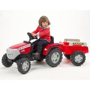 Falk Tracteur à pédales MC Cormick XTX 165 et sa remorque