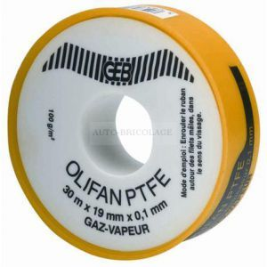 Griffon Rouleau de téflon spécial Gaz/vapeur L30m l19mm Epaisseur 1/10