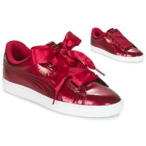 Puma Basket Heart Glam Jr, Sneakers Basses Mixte Enfant, Rouge (Tibetan Red-Tibetan Red), 38.5 EU