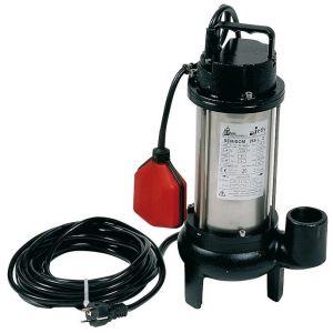 jetly Pompe submersible de relevage SEMISOM 265 eaux chargées - Plage débit: 1,8 à 12 m3/h
