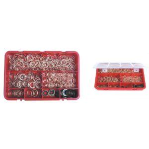 Sodise 10610 - Assortiment de 345 joints de vidange métalloplastiques et à lèvre autocentré