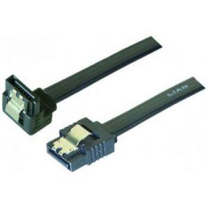 Câble SATA coudé bas verrouillable - 50 cm