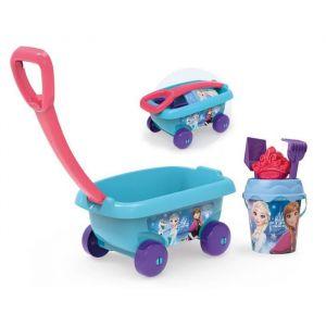 Smoby LA REINE DES NEIGES Chariot De Plage Garni - Disney