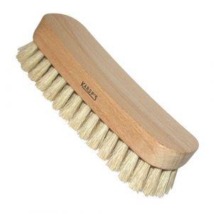 Domergue Brosse pour chaussure polissoir ciré - fibre de soie - blanc - Brosse à chaussures
