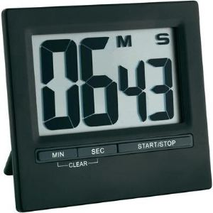 TFA Dostmann Minuteur / chronomètre électronique avec grand écran en alu