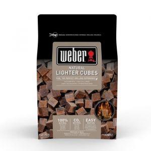 Weber 17612 - Cubes allume-feux - Boite de 48 cubes (box de 15) bruns