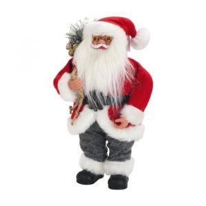 Père Noël avec hotte (30 cm)