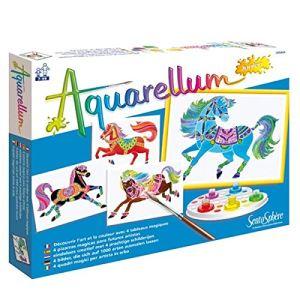 Sentosphère Aquarellum junior 4 tableaux : les chevaux
