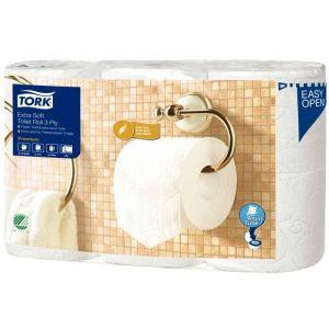 Tork 110318 - Papier toilette rouleau traditionnel extra doux Premium - 3 plis - Lo