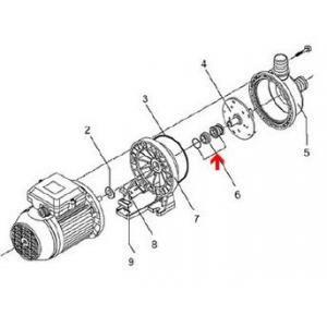 Procopi 521051 - Garniture mécanique Ø14 mm de pompe Eurostar I et II 50 à 100
