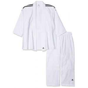 Adidas J350 - Kimono de judo - Mixte - Blanc brillant - Taille: 130