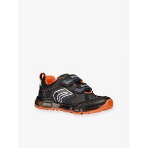 Geox J Android A, Sneakers Basses garçon, Noir (Black/Orange C0038), 28 EU
