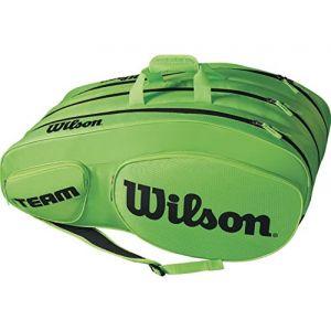 Wilson Sac de Tennis Unisexe Pour les joueurs experts Team III 12 PK Taille Unique Vert/Noir WRZ854812