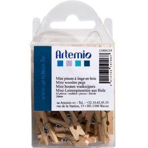 Artémio Pinces à linge en bois de 2,6 cm - 45 pcs