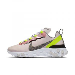 Nike Chaussure React Element 55 Premium pour Femme - Rose - 38.5 - Female