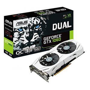 Asus DUAL-GTX1060-O3G - Carte Graphique GeForce GTX 1060 OC Edition 3 Go