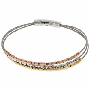 Fossil JA6688998 - Bracelet pour femme argenté avec perles