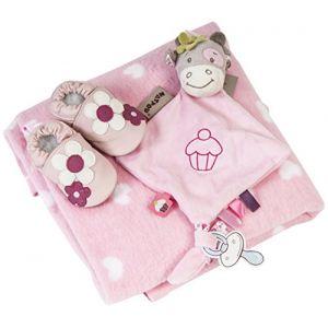 Hippychick Coffret cadeau Premium bébé (couverture + chaussures + peluche)