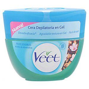 Veet Cire dépilatoire en gel à l'huile d'amande pour peaux sensibles