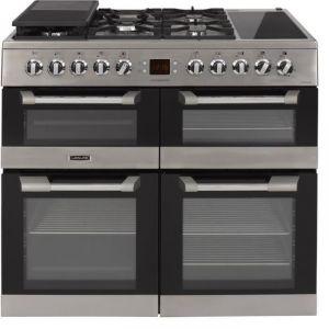 Leisure CS100F520 - Piano de cuisson mixte 5 foyers gaz dont 1 wok + zone de maintien au chaud