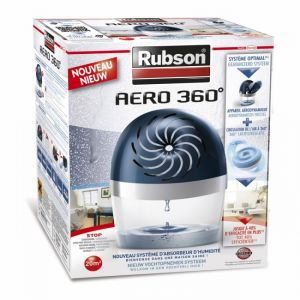 Rubson Aero 360° - Absorbeur anti-humidité et anti-moisissure 20m² + 1 recharge