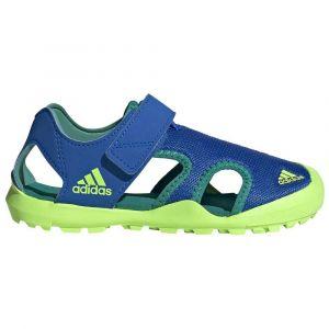 Adidas Captain Toey K, Sandales Mixte Enfant, Bleu Gloire/Vert Signal/Vert Gloire, 35 EU