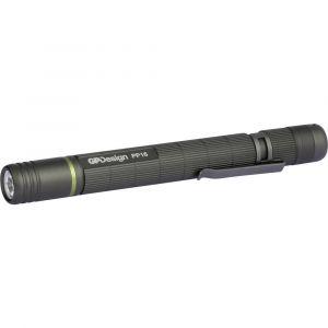 GP Batteries Lampe stylo à pile(s) LED 142 mm GP Design 265PP16A24AU-C2 PP16 Acamar noir