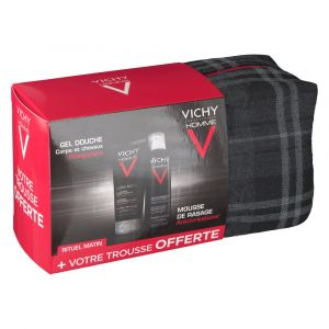 Vichy Homme Trousse de Rituel Matin - Mousse à raser et gel douche