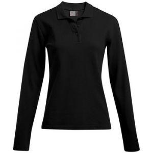 Promodoro Polo Polo épais manches longues grandes tailles Femmes Noir - Taille EU XXL