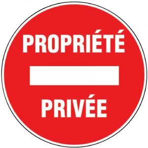 Outibat Panneaux de signalisation ronds - Propriété privée
