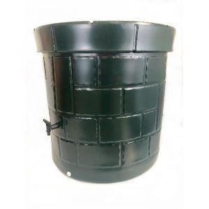 PLAST'UP Récupérateur d'eau de pluie et puit - 340 L - Vert foncé - Contenance : 340 L - Matière : Polyéthylène Haute Densité (PEHD) - Avec robinet - Vert foncé
