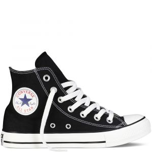 Converse Chaussures casual unisexes Chuck Taylor All Star Hautes Toile Noir - Taille 42,5