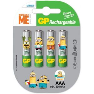 GP Piles rechargeable 4x AAA LR3 Minions 4 - 201194
