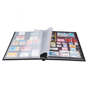 Exacompta 25644E - Album de timbres Globe-Trotter 22,5x30,5 cm, 16p. noires, reliure livre