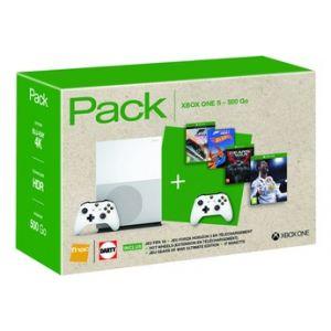 Microsoft Xbox One S 500 Go + 4 jeux + manette