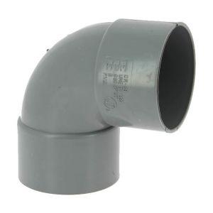 Adequa Coude PVC femelle-femelle 87°30 O80