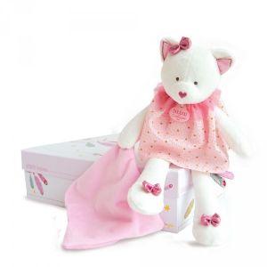 Doudou et Compagnie Peluche bébé pantin avec doudou chat attrape-rêve
