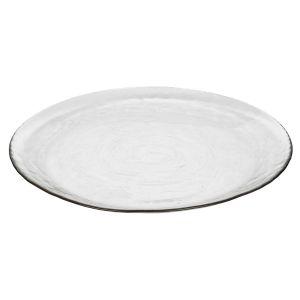 Broste Copenhagen Assiette plate en verre martelé (par 4) Broste