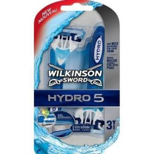 Wilkinson Hydro 5 - Rasoirs jetables masculins - Pack de 3