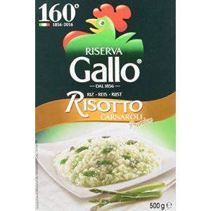 Riso gallo Carnaroli Riz Haut de Gamme pour Risotto sous Vide 500 g