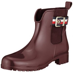 Tommy Hilfiger Bottes CORPORATE BELT RAIN BOOT rouge - Taille 37,38,39,40,41