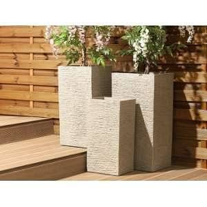 Beliani Cache-pot beige rectangulaire Gaza